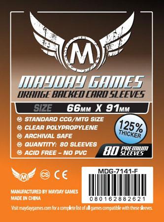 Mayday - 80 Kartenhüllen orange für Kartengröße 63,5 x 88 mm