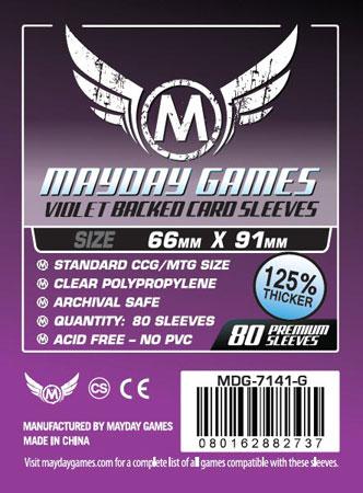 Mayday - 80 Kartenhüllen lila für Kartengröße 63,5 x 88 mm