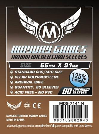 Mayday - 80 Kartenhüllen braun für Kartengröße 63,5 x 88 mm