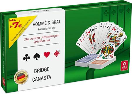 Spielkartenkassette: Rommé & Skat
