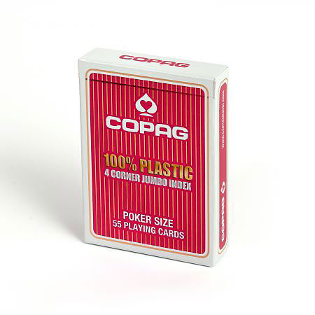 COPAG® Poker Jumbo Index rot, 100% Plastik, 4 Corner