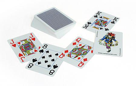 COPAG® Poker Jumbo Index blau, 100% Plastik, 4 Corner