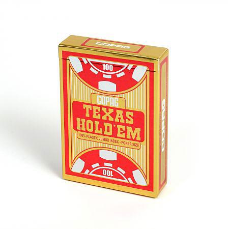 COPAG® Poker Texas Hold`Em, Jumbo Index rot, 100% Plastik