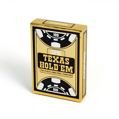 COPAG® Poker Texas Hold`Em, Jumbo Index blau, 100% Plastik