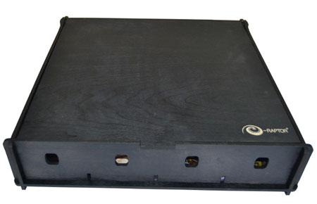 e-Raptor Aufbewahrungsbox Universal (Holz, schwarz)