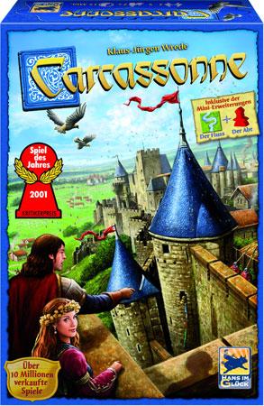 """Carcassonne - Edition II inkl. Erw.""""Der Fluss"""" und """"Der Abt"""" (Grundspiel)"""