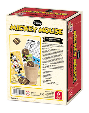 Disney Mickey Mouse - Karten & Würfelbox - Retro Edition