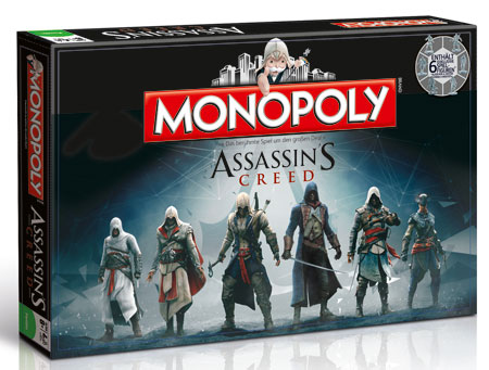 monopoly assassins creed spiel monopoly assassins creed kaufen. Black Bedroom Furniture Sets. Home Design Ideas