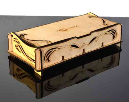 e-Raptor Aufbewahrungsbox für Token - L Elven (Holz)