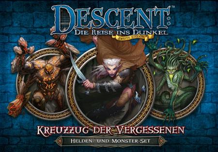 Descent 2. Edition - Kreuzzug der Vergessenen: Helden- und Monster-Set (dt.)
