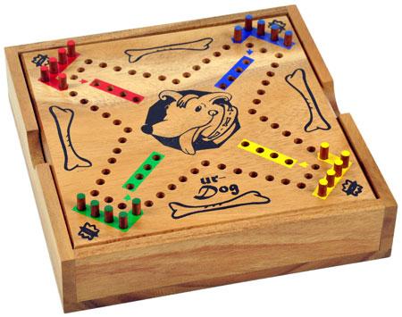 Ur-Dog - Box mit Deckel als Spielbrett (Holz)