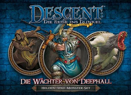 Descent 2. Edition - Wächter von Deephall: Helden- und Monster-Set (dt.)