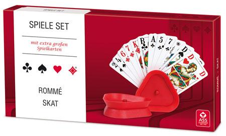Spieleset - Rommé/ Skat mit extra großen Karten