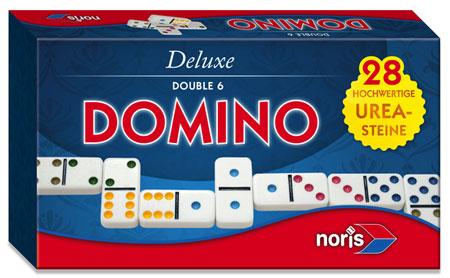 Deluxe - Domino Doppel 6 in Magnetschachtel
