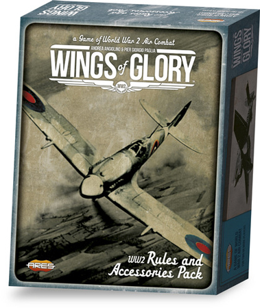 Wings of Glory WW2: Rules and Accessories Pack + Late War Airplane Packs Combo (engl.)