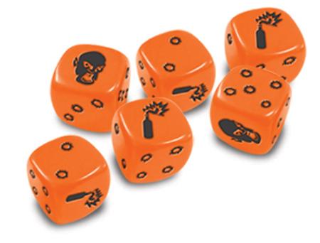 Zombicide - Orangene Spezialwürfel