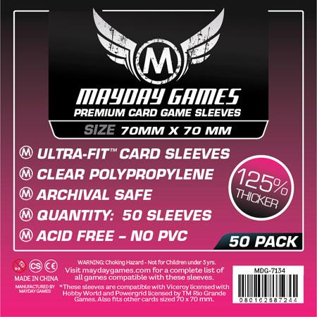 Mayday - 50 Premium Kartenhüllen quadratisch klein für Kartengröße 70 x 70 mm