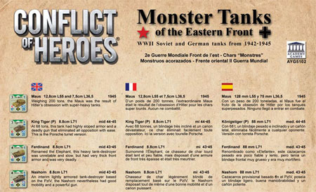 Conflict of Heroes - Awakening the Bear! - Monster Tanks of the Eastern Front Erweiterung (engl.)