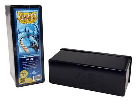 Dragon Shield Kartenbox mit vier Fächern (Blau)