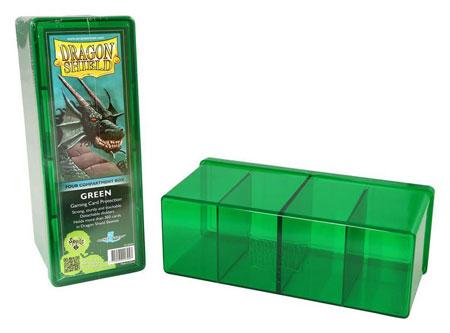 Dragon Shield Kartenbox mit vier Fächern (Grün)