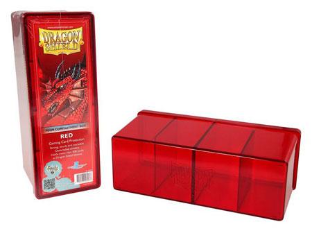 Dragon Shield Kartenbox mit vier Fächern (Rot)