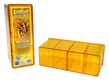 Dragon Shield Kartenbox mit vier Fächern (Gelb)