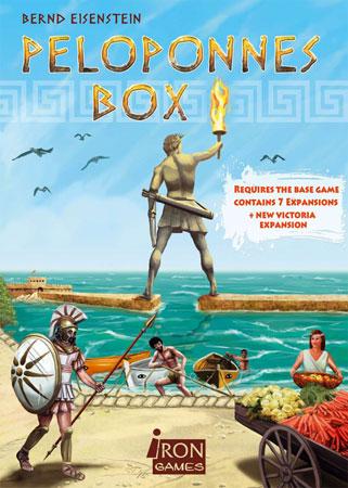 Die Peloponnes Box mit acht Erweiterungen