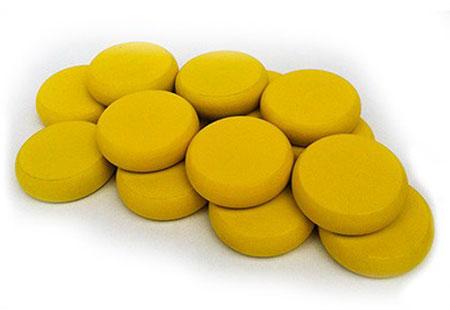 Crokinole - Spielsteine - gelb (Holz)