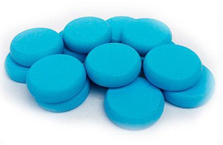 Crokinole - Spielsteine - hellblau (Holz)