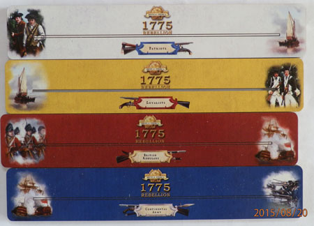 Birth of America - 1775 - Kartenhalter ohne Flaggenmarker