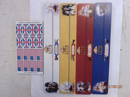 Birth of America - 1775 - Kartenhalter mit Flaggenmarker