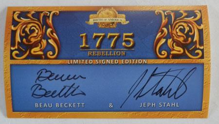 1775 - Rebellion - signierte Autogrammkarte