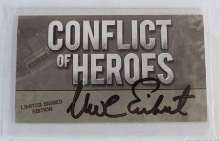 Conflict of Heroes - signierte Autogrammkarte