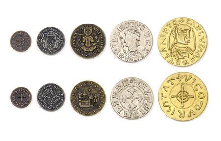 Spielgeldmünzen-Set Mittelalter
