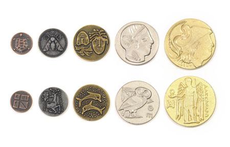 Spielgeldmünzen-Set Griechenland