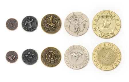 Spielgeldmünzen-Set Mythologische Monster