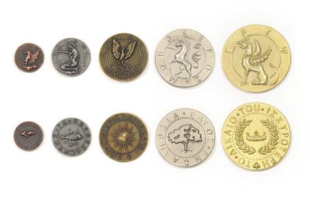 Spielgeldmünzen-Set Mythologische Kreaturen