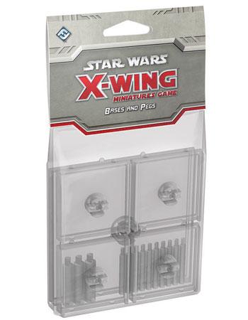 Star Wars X-Wing: Halterungen und Standfüße - Transparent