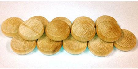 Crokinole - Spielsteine - Mini natur (Holz)