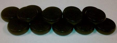 Crokinole - Spielsteine - Mini schwarz (Holz)