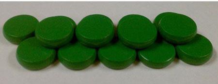 Crokinole - Spielsteine - Mini grün (Holz)