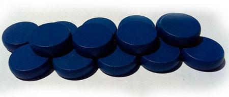 Crokinole - Spielsteine - Mini blau (Holz)