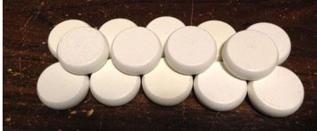 Crokinole - Spielsteine - Mini weiß (Holz)