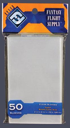Fantasy Flight Games - 50 Kartenhüllen für Kartengröße 70 x 120 mm (Tarot/orange)