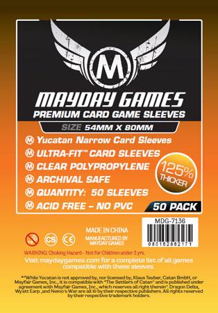 Mayday - 50 Kartenhüllen Premium Yucatan für Kartengröße 54 x 80 mm