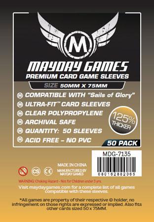Mayday - 50 Kartenhüllen Premium für Kartengröße 50 x 75 mm