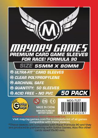 Mayday - 50 Kartenhüllen Premium für Kartengröße 55 x 80 mm