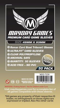 Mayday - 50 Kartenhüllen Premium Tribune für Kartengröße 49 x 93 mm