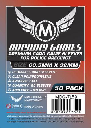 Mayday - 50 Kartenhüllen Premium Police Precinct für Kartengröße 63,5 x 92 mm