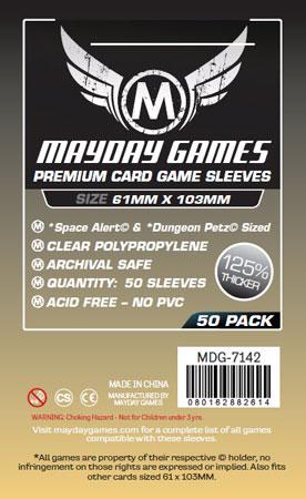 Mayday - 50 Kartenhüllen Premium Space Alert für Kartengröße 61 x 103 mm